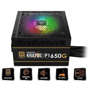منبع تغذیه کامپیوتر گیم دیاس مدل KRATOS P1 650G GOLD